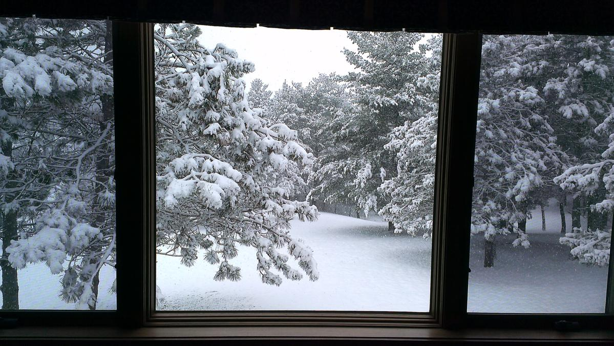 First snow turns property into winter wonderland 2016 17 for Picture window